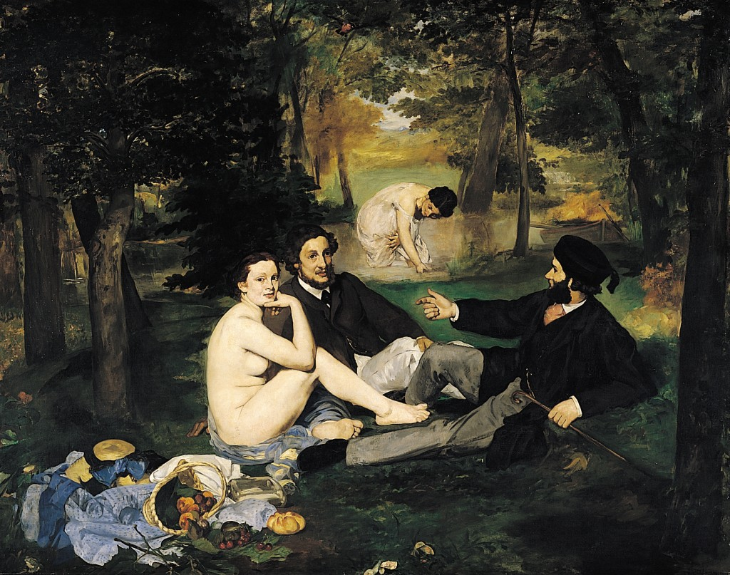 Manet. El almuerzo en la hierba, 1863. Museo de Orsay