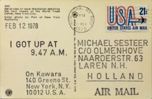 On Kawara. I Got Up at 9.47 A.M. (Feb. 12 1978)