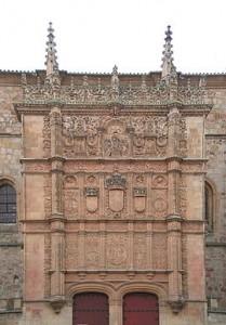 Fachada plateresca de la Universidad de Salamanca