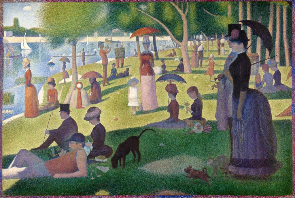 Seurat. Una tarde de domingo en la isla de La Grande-Jatte, 1884-1886. Art Institute, Chicago