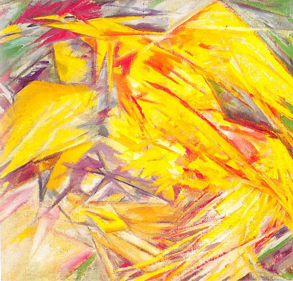 Mikhail Larionov. The Cockerel: A Rayonist Study, 1914