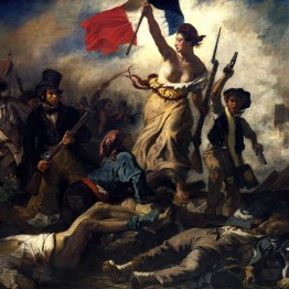 Pintores románticos. Delacroix. La libertad guiando al pueblo