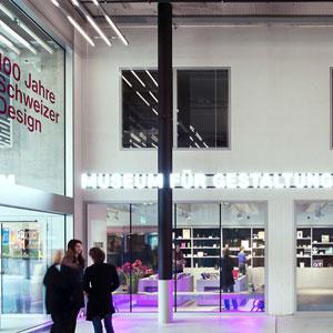 Museos de Suiza. Museum für Gestaltung, Zúrich