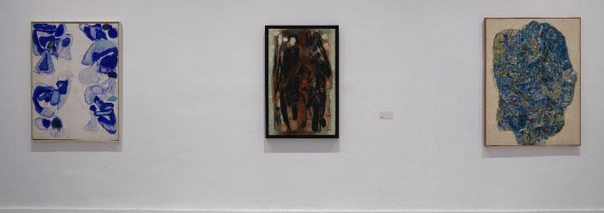"""Vista de sala de la exposición """"París pese a todo. Artistas extranjeros 1944-1968"""" en el Museo Reina Sofía"""