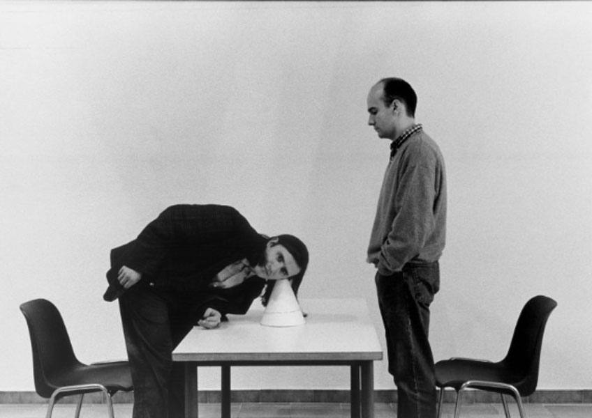 Joan Casellas y Lluis Alabern. Palimpsest de Mataró, 1996. © Foto: Pilar Bonet - Archivo Aire. Gentileza Archivo Aire