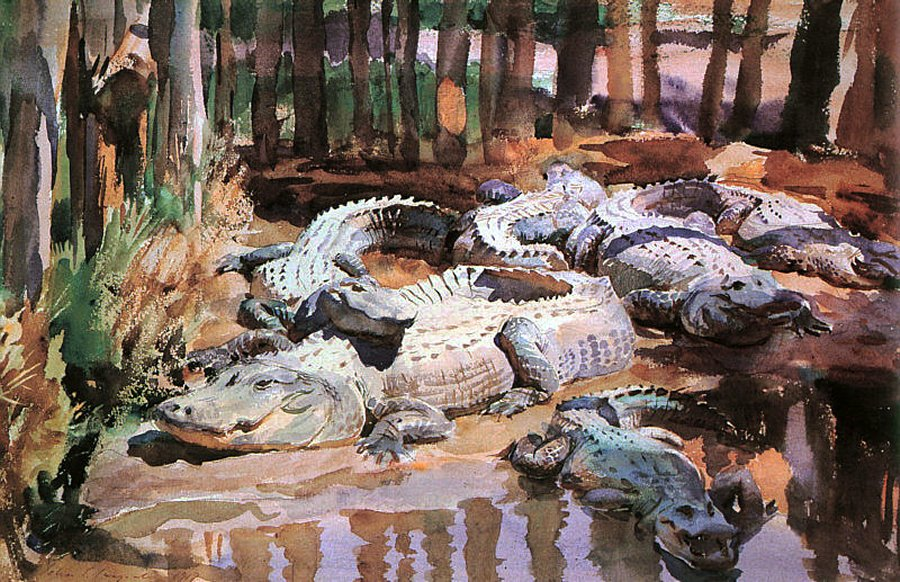 John Singer Sargent. Muddy Alligators, 1917