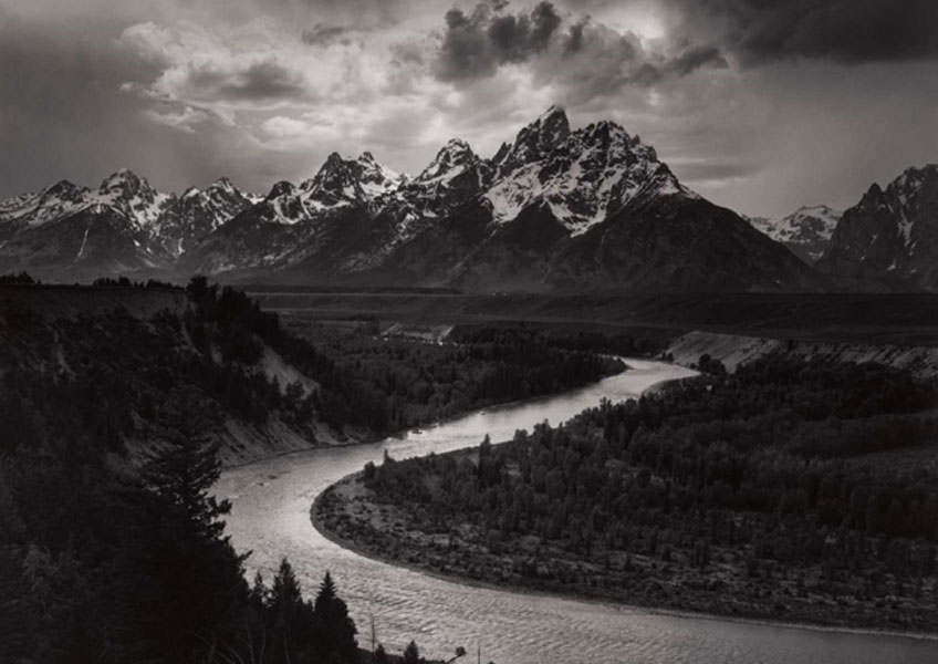 Ansel Adams. The Tetons and Snake River, Grand Teton National Park, Wyoming, 1942. The Lane Collection. © The Ansel Adams Publishing Rights Trust