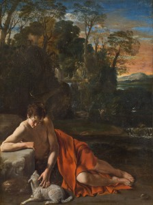 Juan Bautista Maíno. San Juan Bautista en un paisaje, hacia 1610. Museo Nacional del Prado