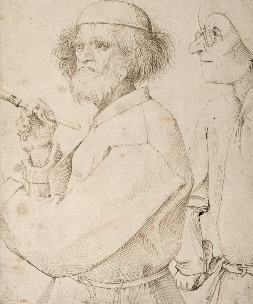 Brueghel el Viejo. The Painter and the Buyer, hacia 1565. The Albertina Museum, Viena