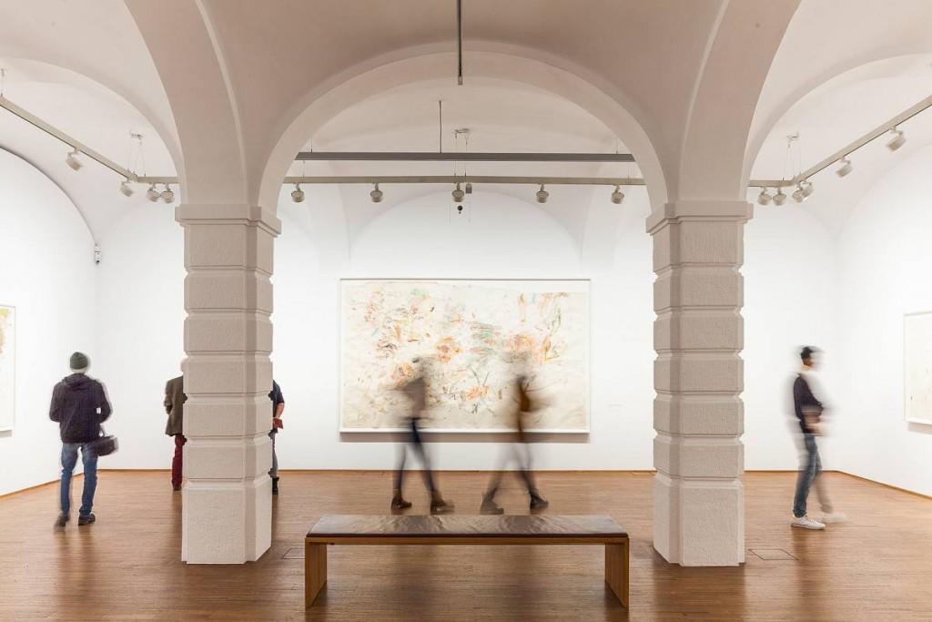Vista de la exposición de Martha Jungwirth en la Albertina