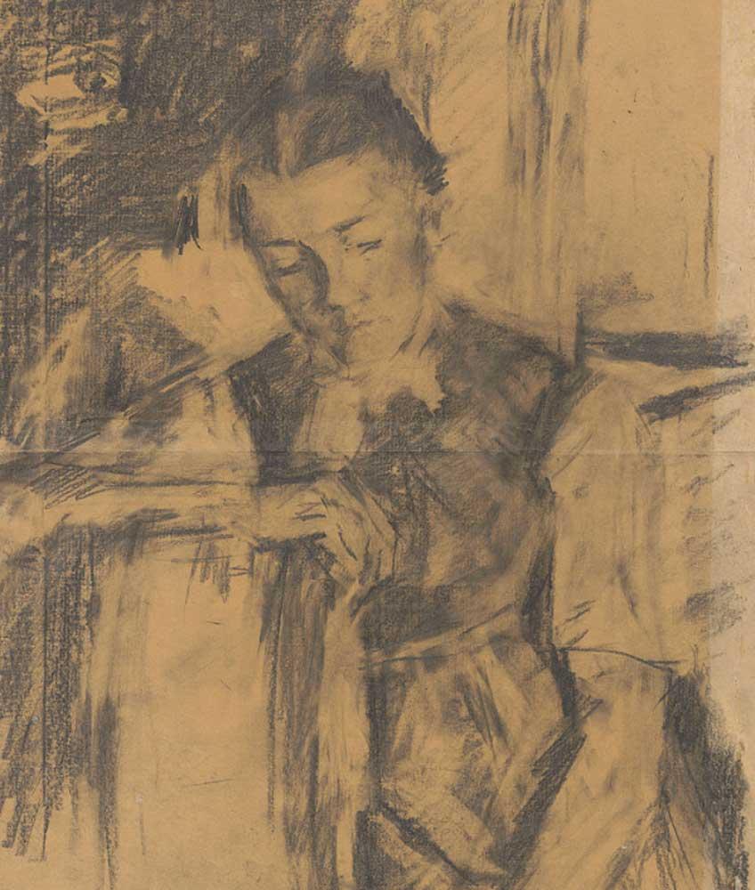 Wilhelm Leibl. Girl looking downward