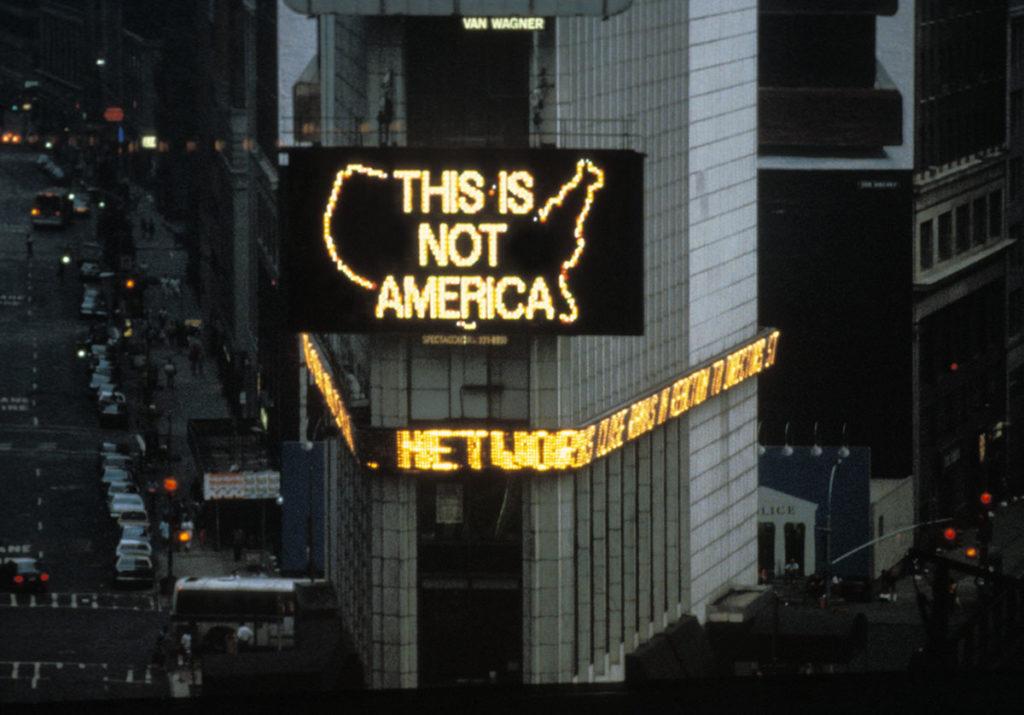 Alfredo Jaar. Times Square, Abril de 1987: Un logo para América, 1987