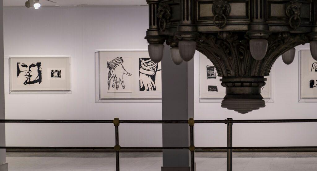 """Vista de """"Playing across papers"""" en Alcalá 31. Fotografía: Guillermo Gumiel"""
