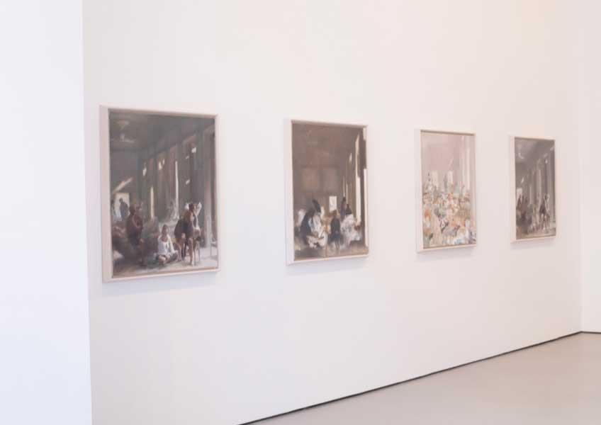 """Vista de la exposición """"Sprezzatura"""", de Simon Edmondson, en la Galería Álvaro Alcázar"""
