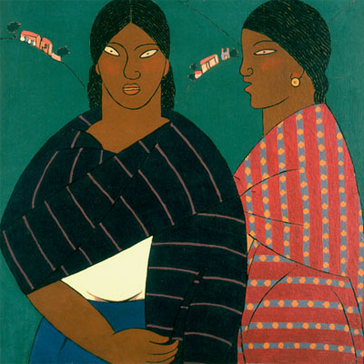 Carlos Mérida. Mujeres de Metepec, 1922. Lance Aaron Collection, San Antonio