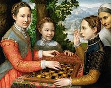 Sofonisba Anguissola. La partida de ajedrez, 1555