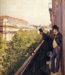Gustave Caillebotte. Un balcón, bulevar Haussmann, 1880. Colección privada © Paris, Comité Caillebotte
