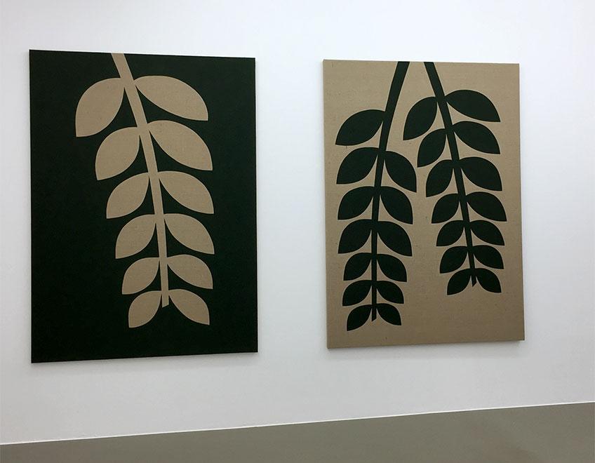 """Antonio Ballester Moreno. Plantas, 2018. Exposición """"El tomillo y la hierba en el techo de mi habitación"""" en Leandro Navarro y Maisterravalbuena."""