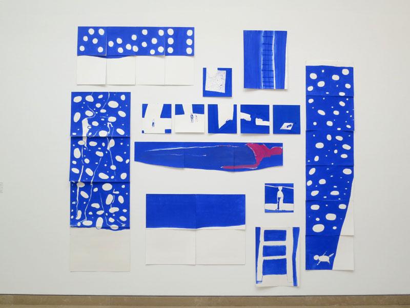 Anne-Marie Schneider. La mer bleue, 2012
