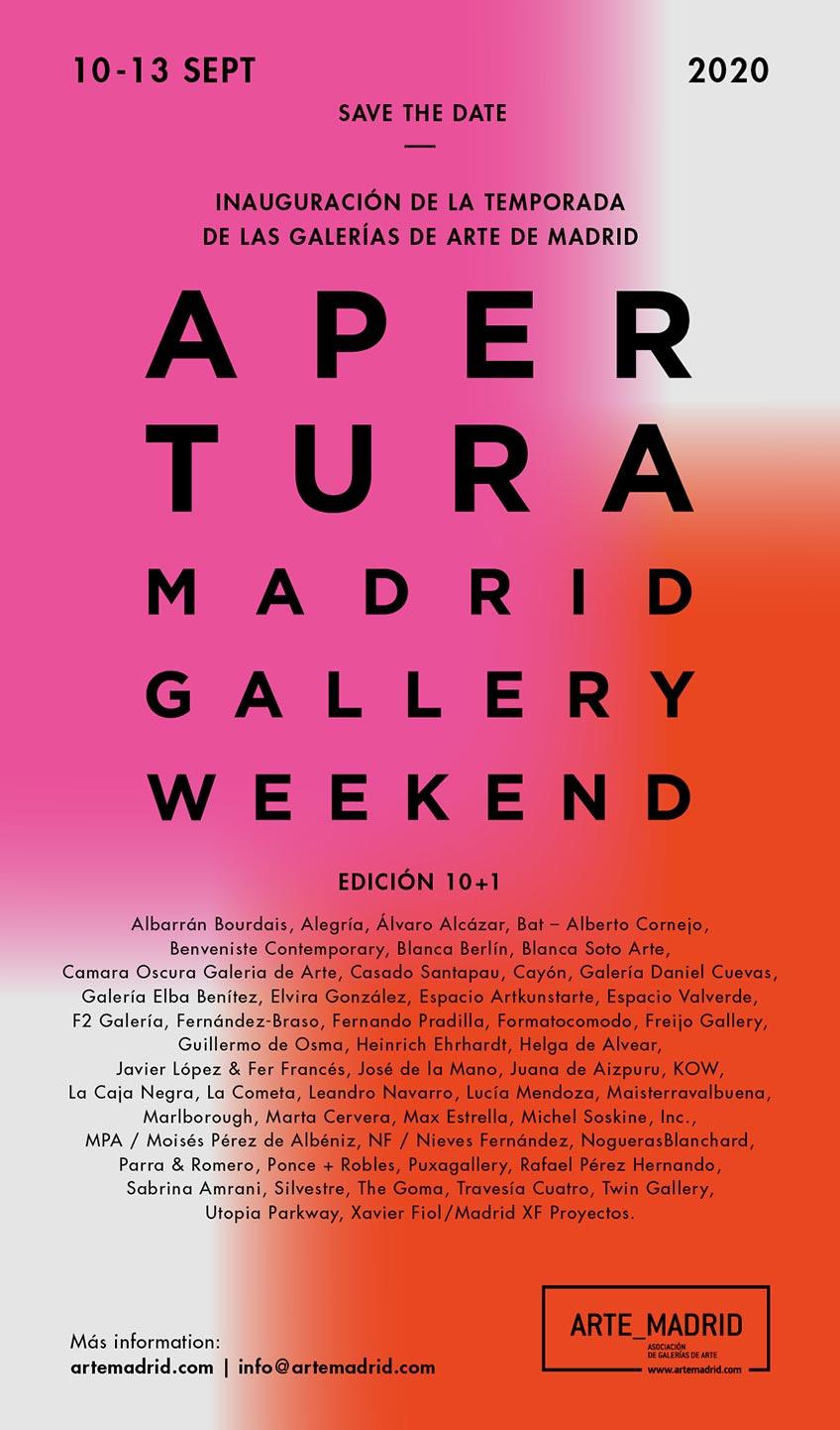 La edición 10+1 de Apertura Madrid se celebrará del 10 al 13 de septiembre 2020