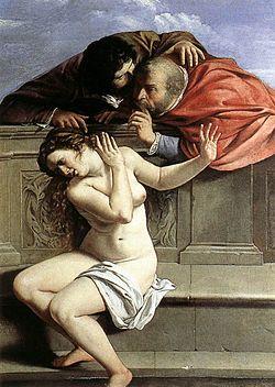 Artemisia Gentileschi. Susana y los viejos
