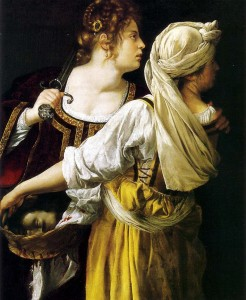Artemisia Gentileschi. Judit con su doncella