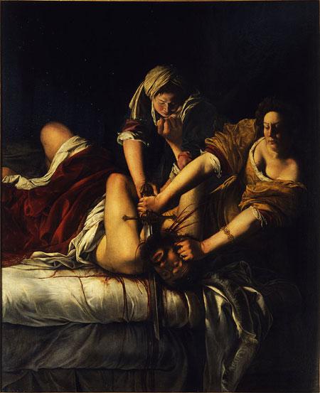 Artemisia Gentileschi. Judit decapitando a Holofernes