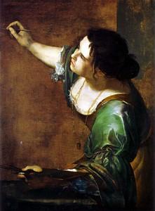 Artemisia Gentilechi. Autorretrato como Alegoría de la Pintura