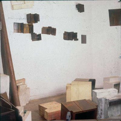 Vista del estudio del artista