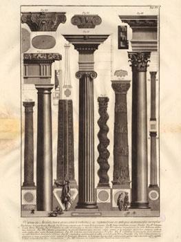 Piranesi. Della magnificenza ed architettura de'romani, Roma, 1761. Biblioteca de la Escuela de Arquitectura de la Universidad Politécnica de Madrid