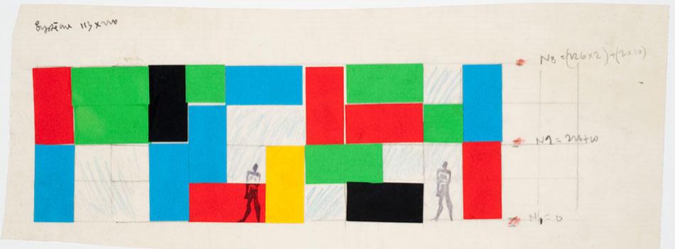 Le Corbusier, boceto para la Maison de l'homme, Zurich, Suiza, 1961-1963. Canadian Centre for Architecture © FLC-ADAGP
