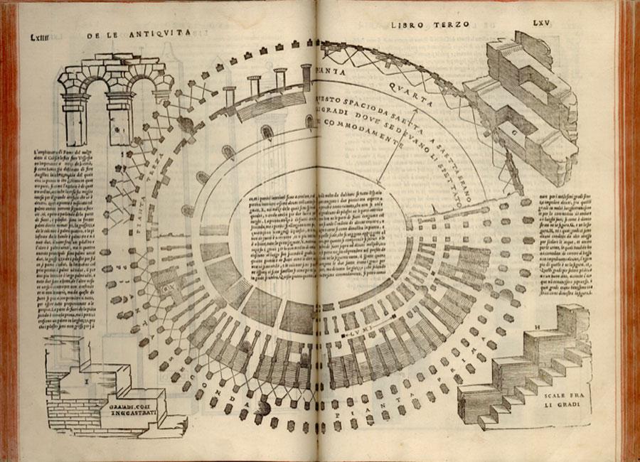 Sebastiano Serlio, Libro primo [-quinto] d' architecture, ca.1551. Venecia Biblioteca de la Escuela de Arquitectura de la Universidad Politécnica de Madrid