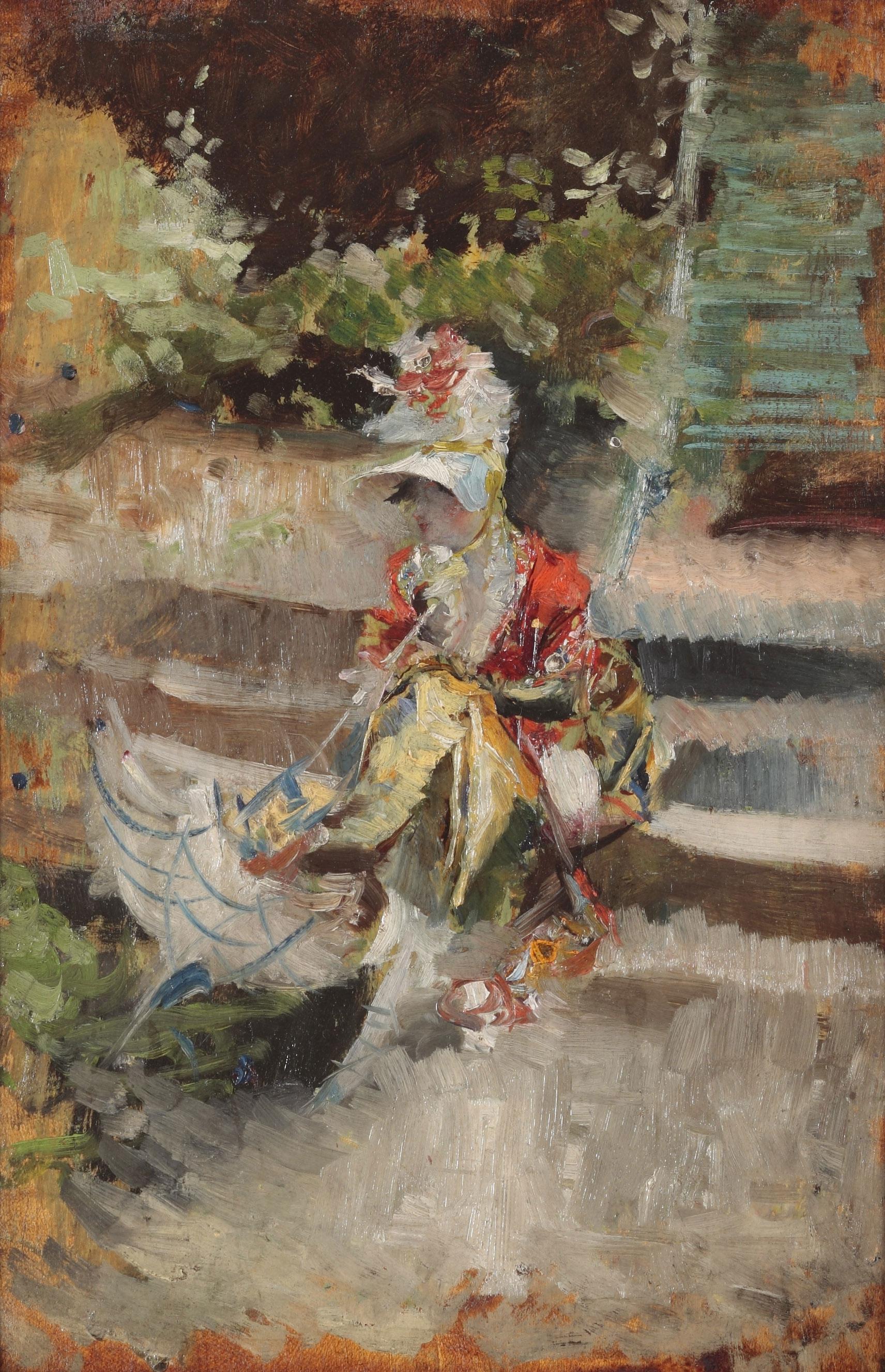 Giovanni Boldini. Berthe con capellino di paglia, hacia 1872. Colección Palazzo Foresti, Carpi