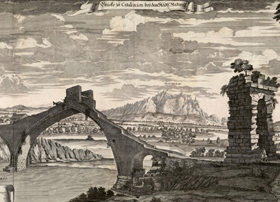 Puente de Martorell, siglo XVIII. Fundación Juanelo Turriano