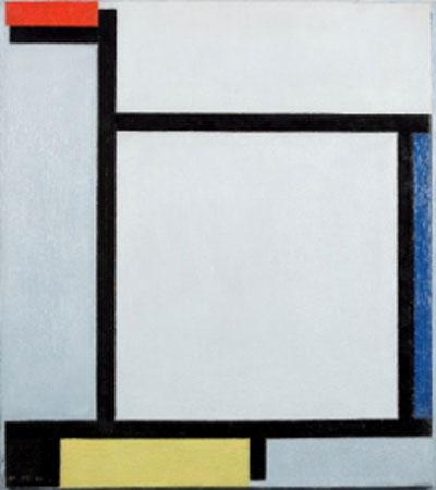 Piet Mondrian. Composición con rojo, azul, negro, amarillo y gris, 1921. Kunstmuseum den Haag