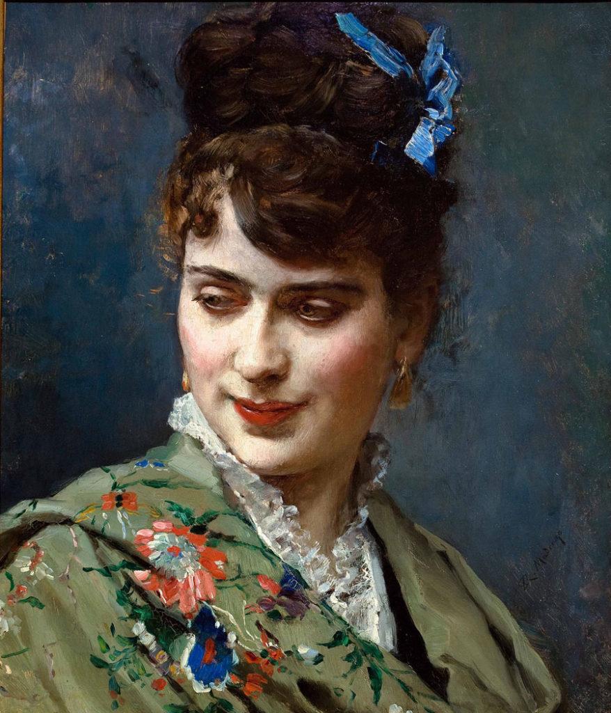 Raimundo de Madrazo. Aline de perfil. Cortesía de Galería Jorge Juan