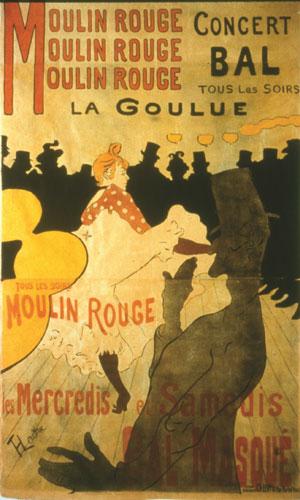 Henri de Toulouse-Lautrec, Moulin Rouge, La Goulue, 1891. Colección particular