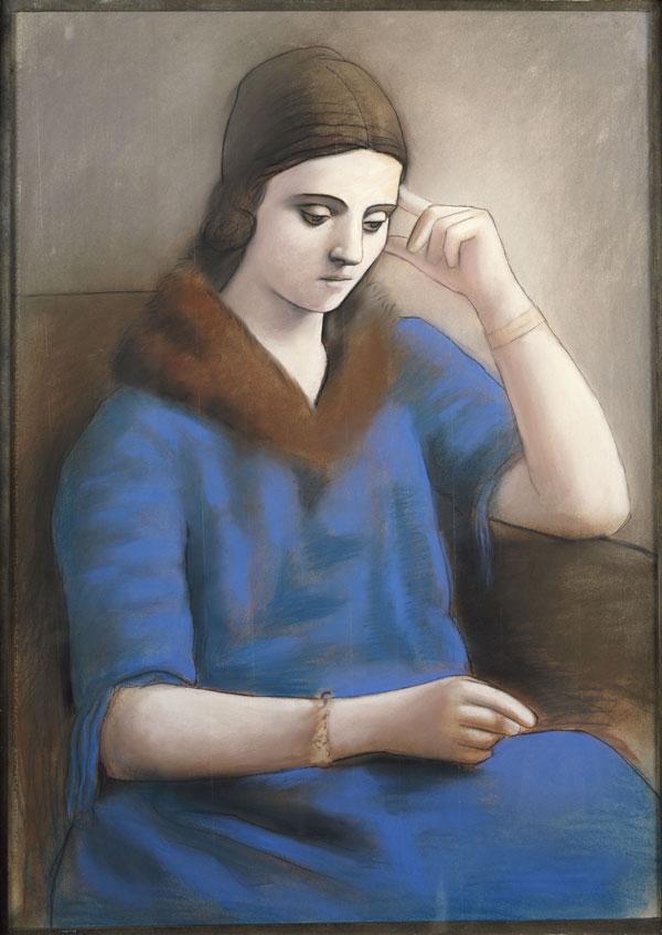 Pablo Picasso. Olga pensativa, 1923. Musée national Picasso-Paris, Dation Pablo Picasso, 1979