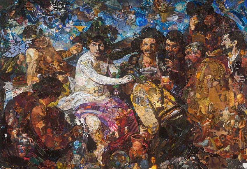 Vik Muniz. Los borrachos. After Velázquez