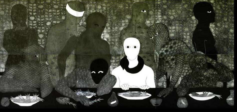 Belkis Ayón. La cena, 1991