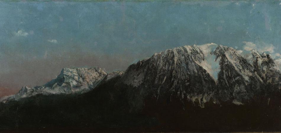 Gustave Courbet. Panorama de los Alpes, hacia 1876. © Musées d'art et d'histoire, Ginebra