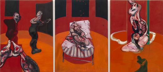 Francis Bacon. Tres estudios para una Crucifixión (Three Studies for a Crucifixion), 1962. Solomon R. Guggenheim Museum, Nueva York, 64.1700 © The Estate of Francis Bacon. Reservados todos los derechos     DACS/VEGAP, Bilbao, 2016