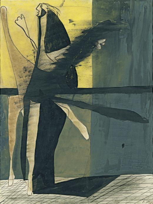 Francis Bacon. Composición (Figura), 1933. Colección Abelló, Madrid © The Estate of Francis Bacon. DACS/VEGAP, Bilbao, 2016