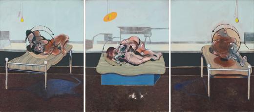 Francis Bacon. Tres estudios de figuras sobre camas, 1972. Esther Grether Family Collection © The Estate of Francis Bacon. DACS/VEGAP. Bilbao, 2016 Foto: Bildpunkt AG, Münchenstein