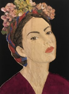 Stephan Balkenhol. Lady with flowers on head, 2017