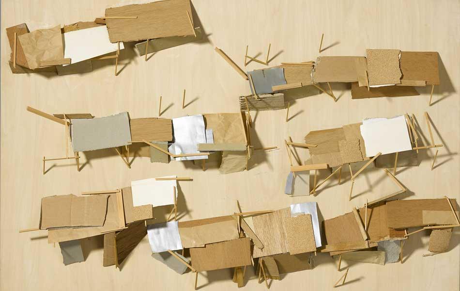 Tadashi Kawamata. Favela Plan, 1989. Es Baluard Museu d'Art Modern i Contemporani de Palma, depósito colección Ajuntament de Palma© de l'obra, Tadashi Kawamata, 2018. Fotografia: Joan Ramon Bonet & David Bonet