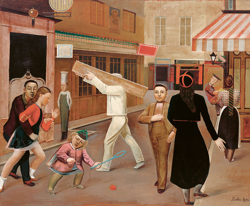 Balthus. La calle, 1933. Colección Gertrude Stein