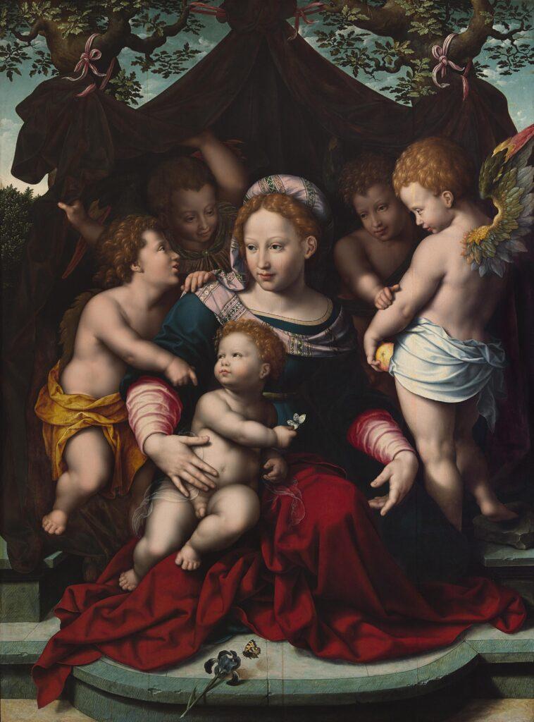 Cornelis van Cleve Virgen del lirio, c. 1550