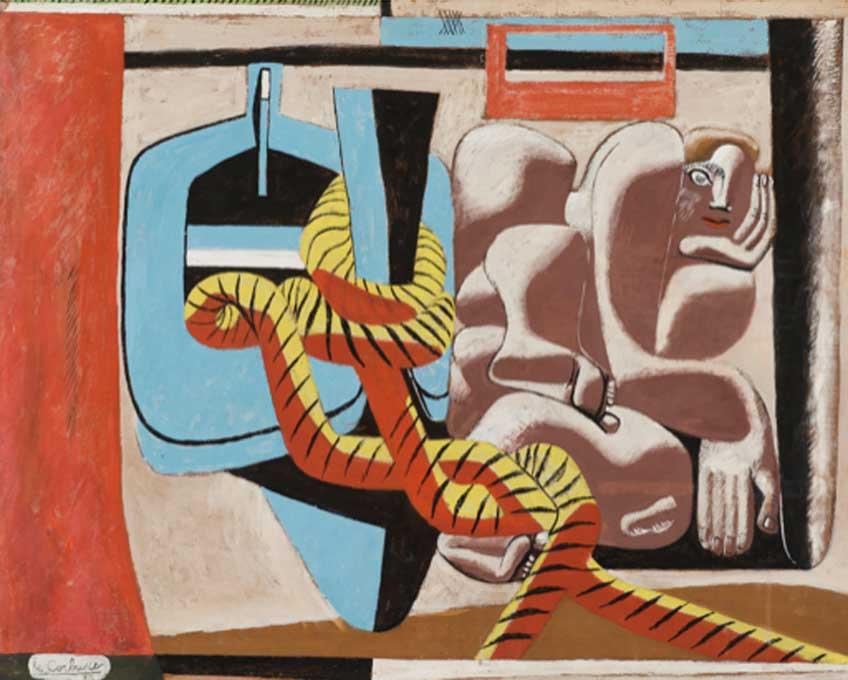 Le Corbusier. Marie Cuttoli, 1936. Oil on cardboard. Courtesy of Fondation Le Corbusier, Paris. © F.L.C. / ADAGP, Paris / Artists Rights Society (ARS), New York 2020