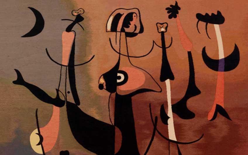 Joan Miró. Rhythmic Figures, or Woman and Birds (detallel), 1934. © 2020 Successió Miró / Artists Rights Society (ARS), New York / ADAGP, Paris